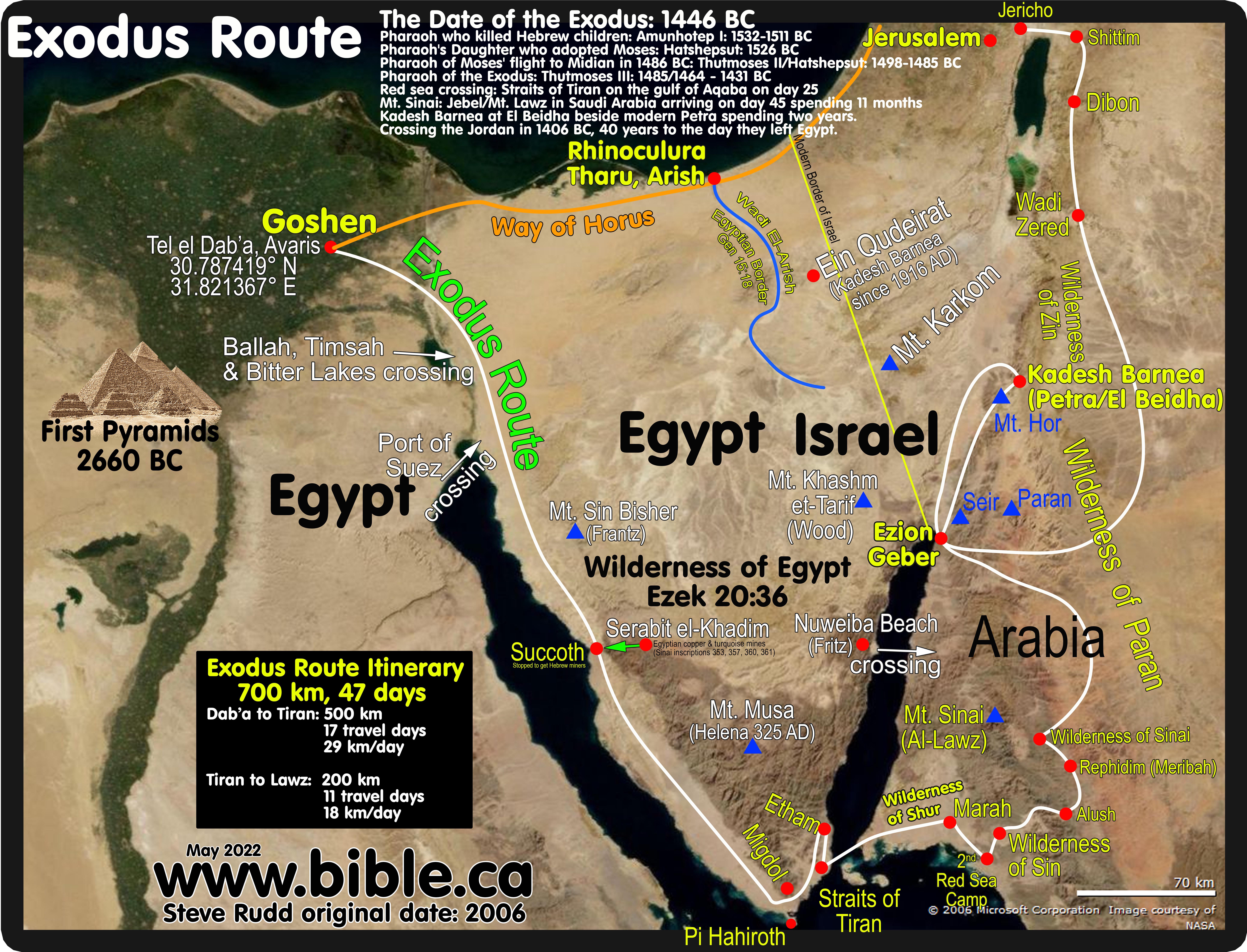 The Exodus Route 22 Stops Between Mount Sinai To Kadesh